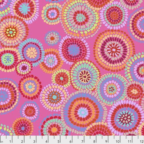 Kaffe Fassett Collective-Mosaic Circles-Pink