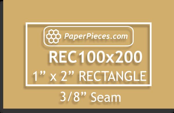 1 x 2 Rectangle 3/8 seam Acrylic Template