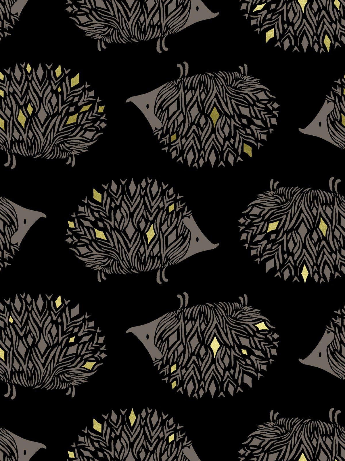 Darlings Hedgehog in Metallic Black