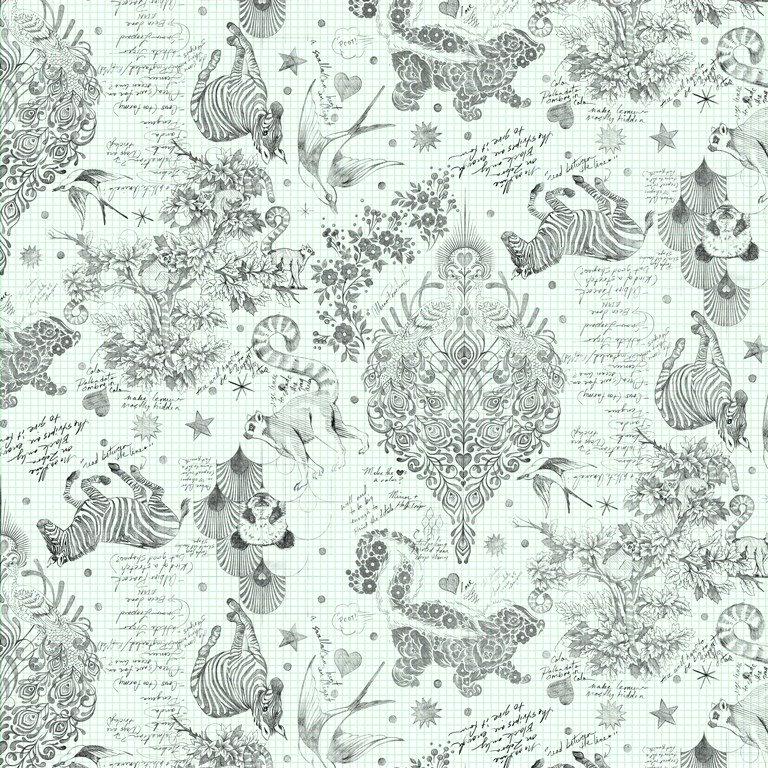 Linework-Sketchyer-Paper-Sateen Quilt Back