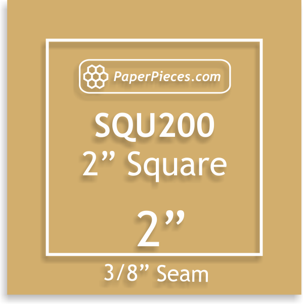 Square 2 Acrylic Template with 3/8 Seam