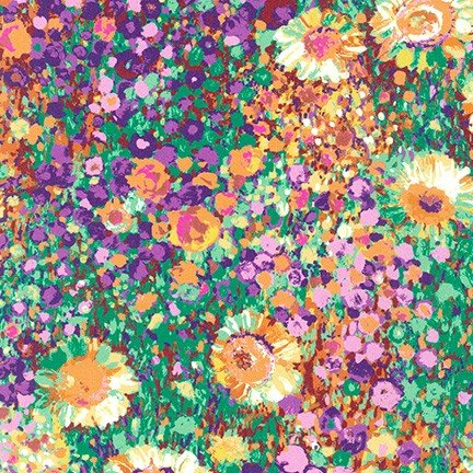 Painterly Petals-Zinnia Garden-Summer