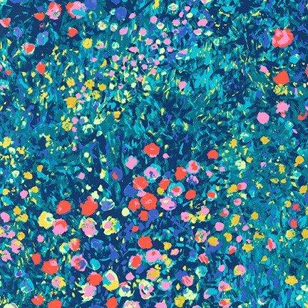 Painterly Petals-Floral Border Garden-Multi