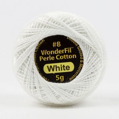 Eleganza Pearl Cotton#8 in White