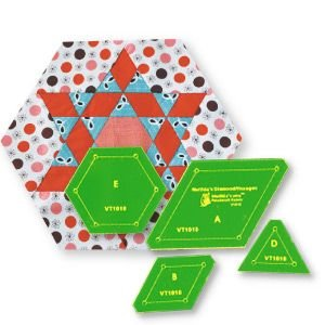 diamond hexagon acrylic template set