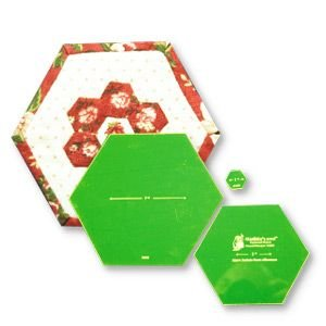 framed hexagon acrylic template set