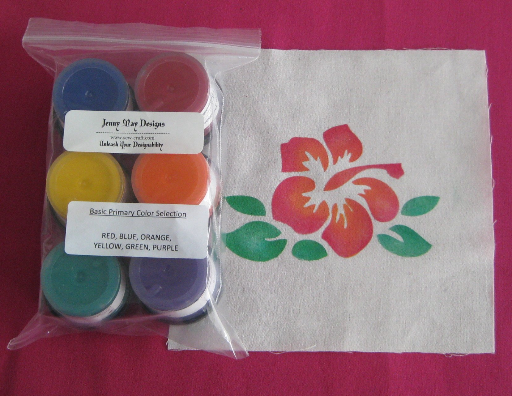 basic primary color paint set 6 colors by Jenny May Designs