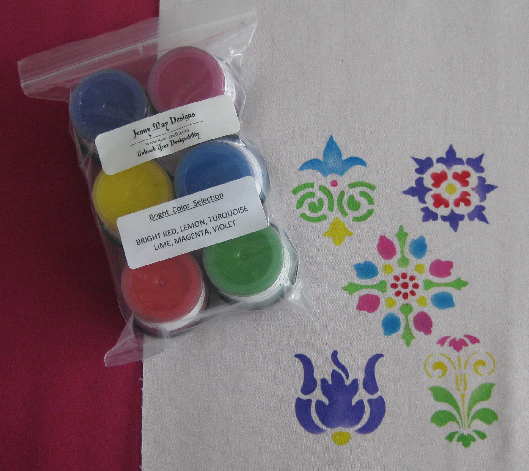 bright color paint set 6 colors by jenny may designs