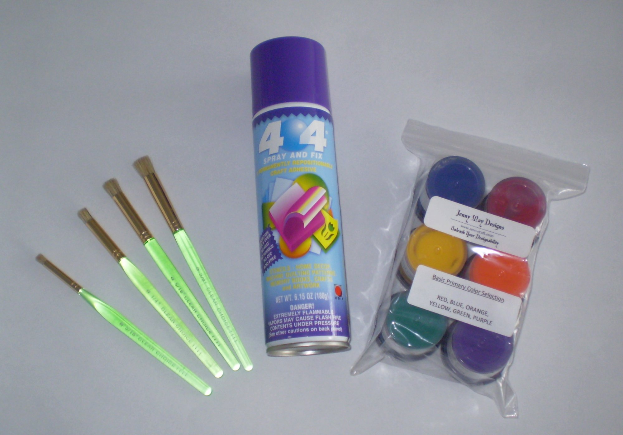 bright paint color starter kit for stenciling and fabric painting - 6 colors