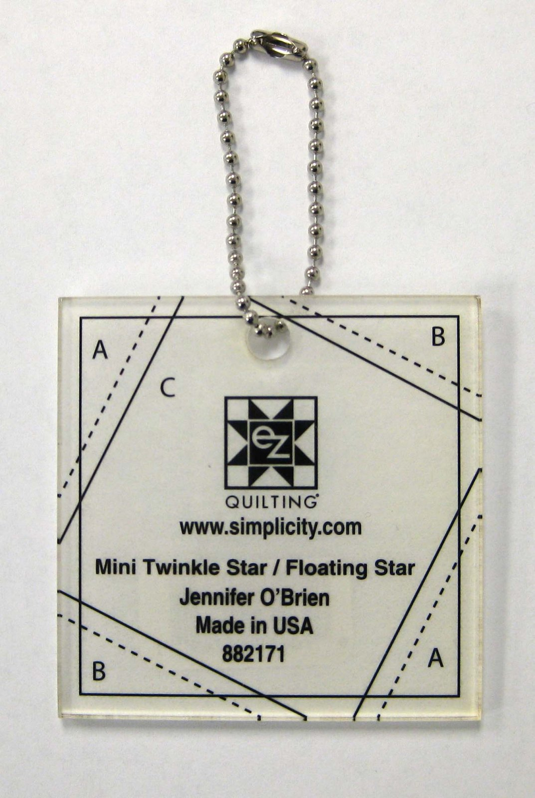 mini twinkle star floating star Ruler /Pattern - 2 finished