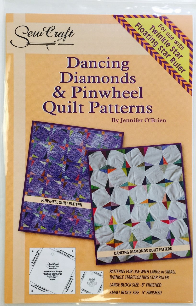 Dancing Diamonds & Pinwheel Quilt Pattern only