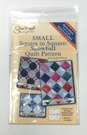 Square in Square and Snowball Ruler /Pattern - 5.25 inches finished