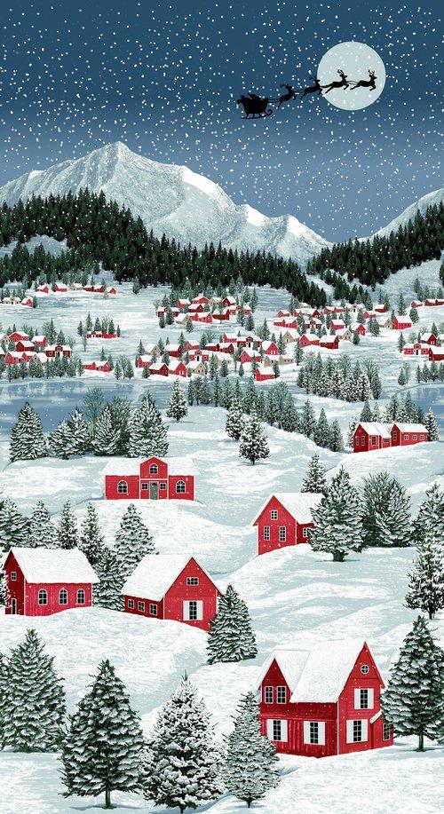 Merry Berry & Bright Panel (Santa) #3166 1+