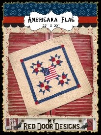 Americana Flag Pattern by My Red Door Designs^