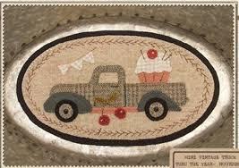 Mini Vintage Truck Thru the Year -Nov. by Buttermilk Basin  BMB1356^