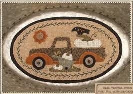 Mini Vintage Truck Thru the Year Sept.by Buttermilk Basin BMB 1354