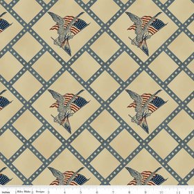 Americana by Penny Rose Fabrics C4770 in Blue^