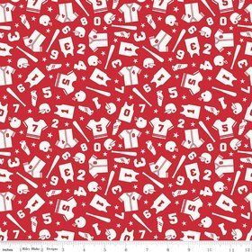 SALE Play Ball 2 by Lori Whitlock for Riley Blake C5131 Red^
