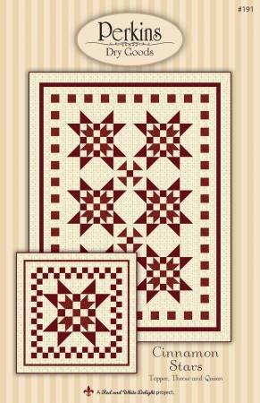 Cinnamon Stars Pattern by Perkins Dry Goods #191+