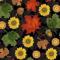 Autumn Reverie for Clothworks Y2182-3 Black +
