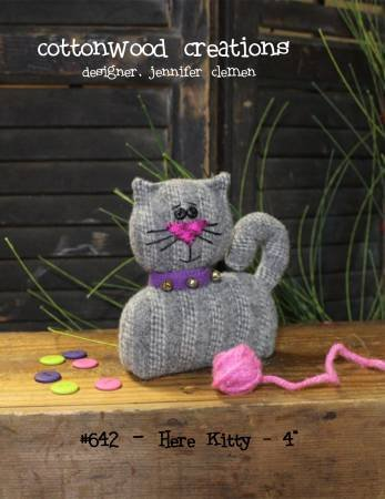 Here Kitty Pin Keep pattern by Cottonwood Creations^