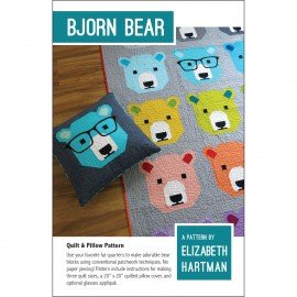 Bjorn Bear Quilt and Pillow Pattern by Elizabeth Hartman+