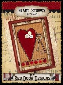 Heart Strings with Keys by My Red Door Designs^