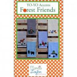Forest Friends - a Yo-Yo Accents Pattern by Marcia Layton+