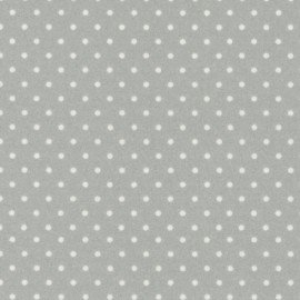 Woolies Flannel Soft Grey Dots Flannel MASF18131-K+