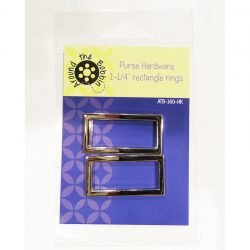 Purse Hardware 1 1/4 rectangle rings^+