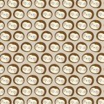 Restful Sloths by 3 Wishes Fabric Tan Sloth Faces 3WI13861- Tan+