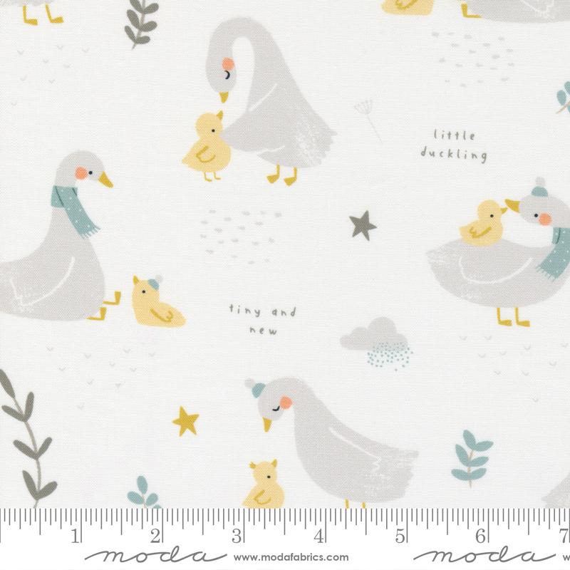 Little Ducklings White Ducks #25100 11 by Moda