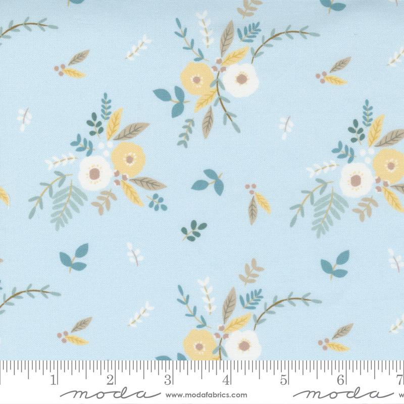 Little Ducklings Blue Flowers #25101 15 by Moda