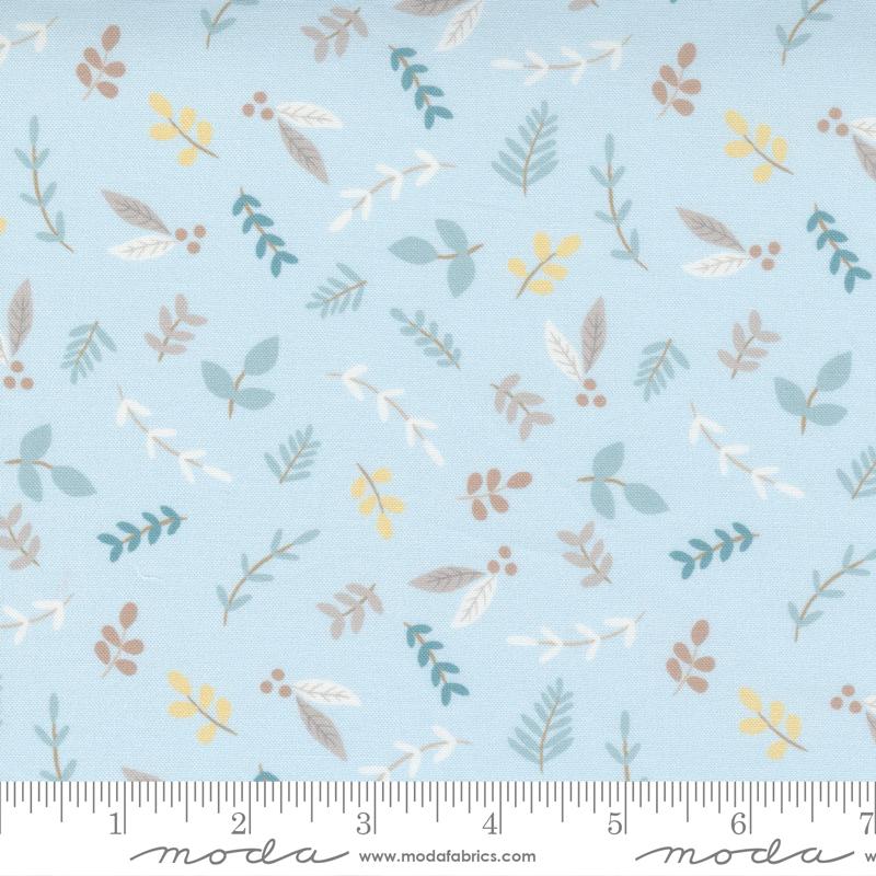 Little Ducklings Blue Small Flowers #25102 15 by Moda