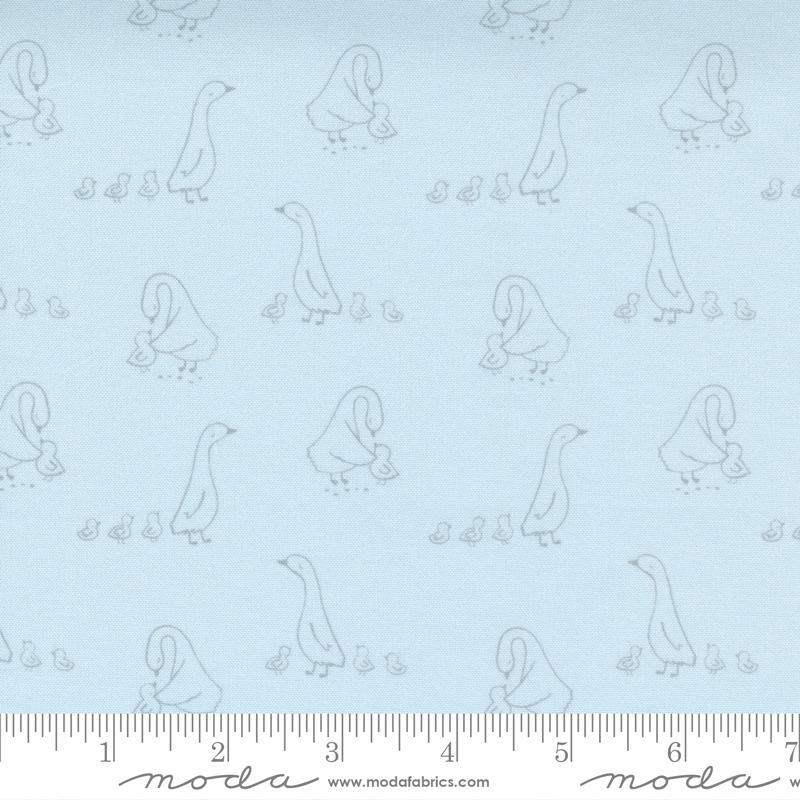Little Ducklings Blue Mom & Ducklings #25103 15 by Moda