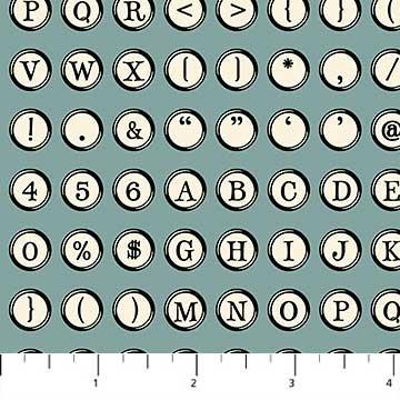 Letterpress by Deborah Edward  Teal  21894 62+