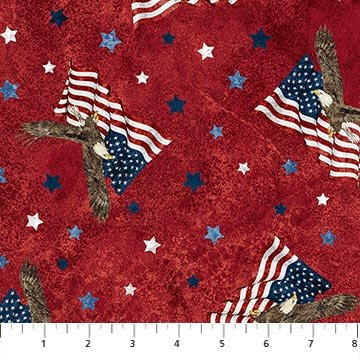 STARS AND STRIPES 8 RED MULTI by Northcott 23460 24