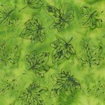 Flora By Jacqueline De Jonge Green Fall Leaves Batik 3002Q-X