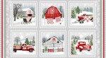 Holiday Heartland Panel by Jane Schade Beach 9208 98