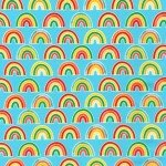 Bright Days Rainbows Blue by Robert Kaufman AAK-20601-4