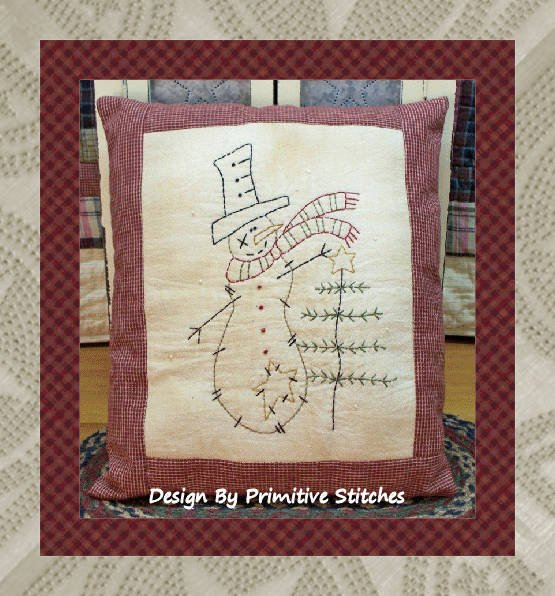 Charlie the Snowman #WI101 by Primitive Stitches^