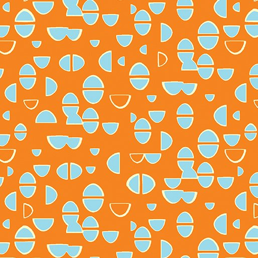 Modern Marks Half Ovals Orange by Contempo 04661 28+