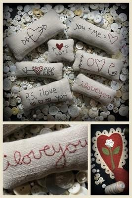 P.S. I Love You Bowl Fillers & Scalloped Heart^
