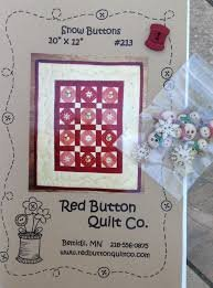 Snow Buttons #213 (red quilt) by Red Button Quilt Co.+