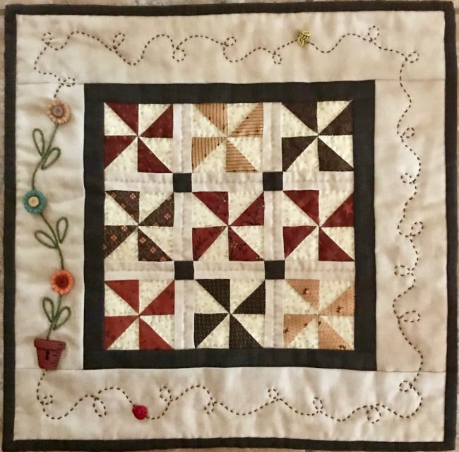 Autumn Pinwheels #307 by Red Button Quilt Co^