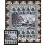 Mountain Stag Quilt Pattern by Castilleja Cotton for Hoffman Call of the Wild+