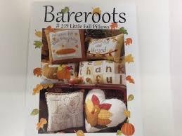 Bareroots #239 Little Fall Pillows KIT: Pattern with Pumpkin Pie Pillow^