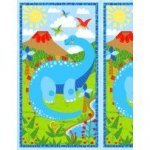 Dandy Dino Panel by Arrolyn  Weiderhold for Wilmington Prints ^
