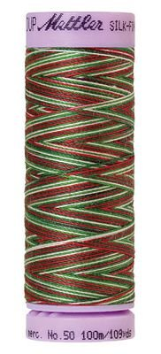 Mettler 50W 109Y Var Silk Finish Cotton Thread 9825 Seasons Greeting+