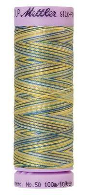 Mettler 50W 109Y Var Silk Finish Cotton Thread 9829 China Blue+762303589308